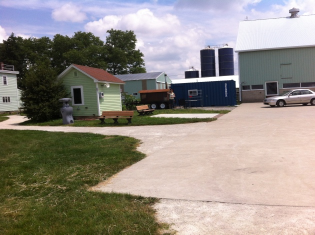 The Burlington County Community Agricultural Center on a fine summer day