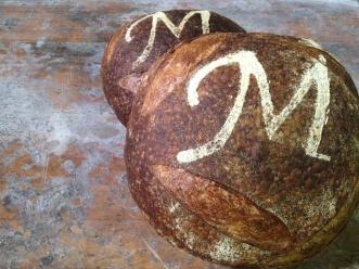 Metropolitan Bakery's signature sourdough loaf.